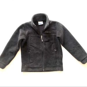 Columbia Steens Mountain Fleece Boys Black Jacket